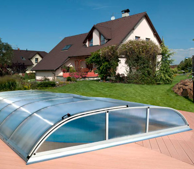 Abri bas t lescopique idealcover dallas pour piscine 8 for Fournisseur piscine