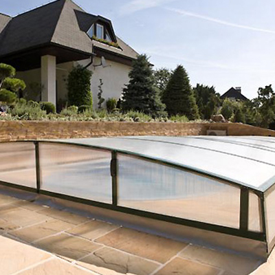 Abri bas t lescopique majestic pour piscine for Abri de piscine bas