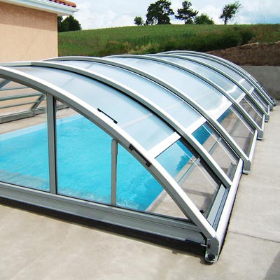 Abri mi haut t lescopique borneo pour piscine for Piscine on line