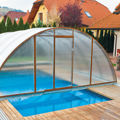 Abri haut fr gate t lescopique pour prolonger la saison - Haut parleur pour piscine ...