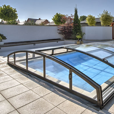 Abri piscine Mirage parois transparent