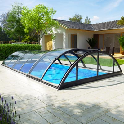 Abri de piscine silhouette quartz for Fournisseur piscine