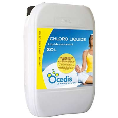 Chlore liquide ovy chloroliquide sans stabilisant for Concentration chlore piscine