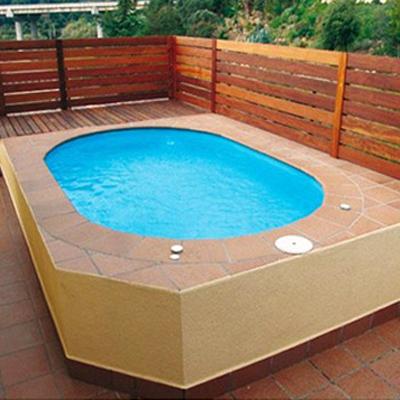 Mini piscine formentera coque polyester 3m50 profondeur for Prix piscine polyester