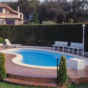 Piscine taormina coque polyester for Prix piscine haricot