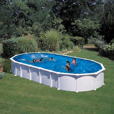 Piscines hors sol acier gre ha ti et atlantis ovales for Fournisseur liner piscine