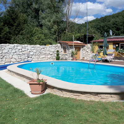 Kit piscine acier electrozingu mahogany for Piscine kit acier