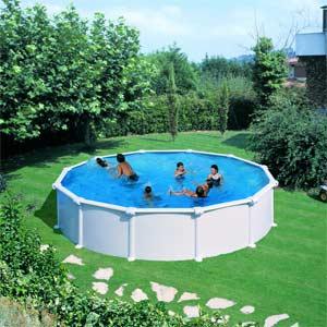 Piscine hors sol acier gre atlantis ronde for Fournisseur liner piscine