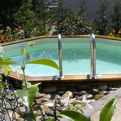 Piscines bois gardipool octogonale avec ou sans margelles for Liner piscine 4m60 sur 1m20