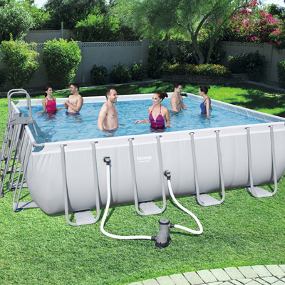 Piscine hors sol Bestway Power Steel forme carrée