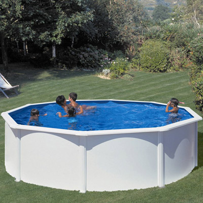 piscine hors sol acier gre fidji ronde. Black Bedroom Furniture Sets. Home Design Ideas