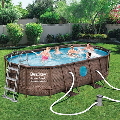 Piscine hors sol Bestway Power Steel Vista Ovale