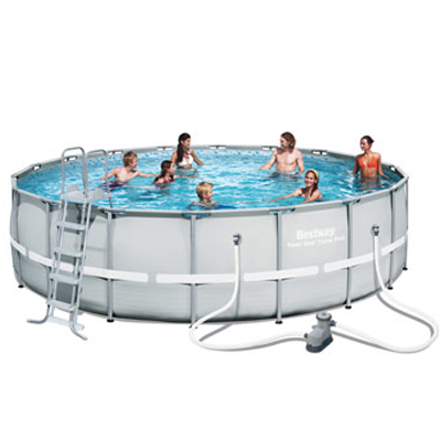 Piscine hors sol ronde bestway power steel la qualit petit prix for Fournisseur piscine