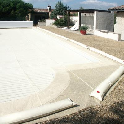 Filet provolet pour volet de piscine - Protection piscine volet roulant ...