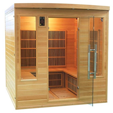 sauna infrarouge 4 5 places apollon club. Black Bedroom Furniture Sets. Home Design Ideas