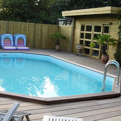 Piscine bois gardipool ovale for Piscine bois a enterrer