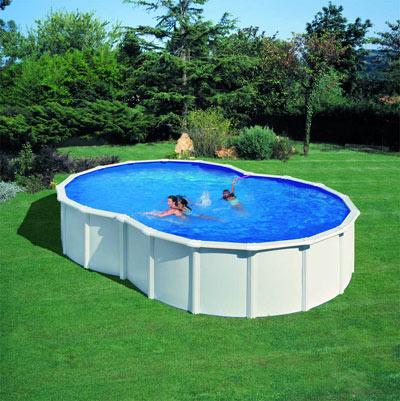 Piscine hors sol acier gre varadero de forme haricot for Fournisseur piscine