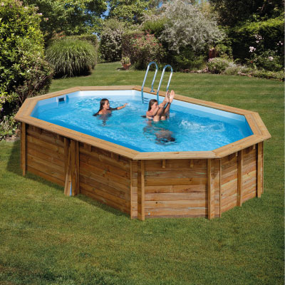 Piscine bois ovale SUNBAY CANNELLE