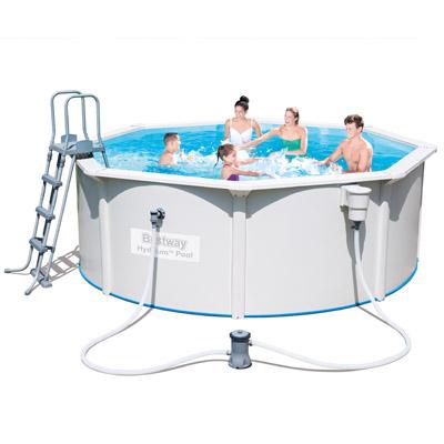 piscine hors sol tubulaire ronde bestway rattan. Black Bedroom Furniture Sets. Home Design Ideas