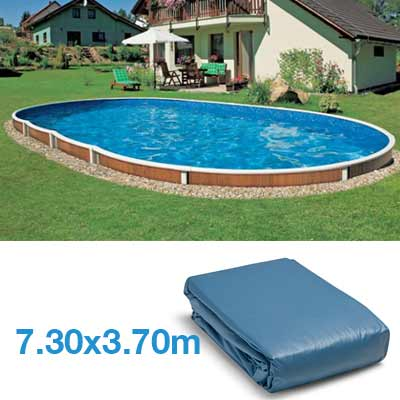 Liner piscine hors sol ronde diam tre coloris bleu uni for Liner piscine 7m30 sur 3m70