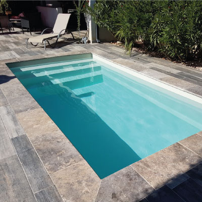 mini piscine deva coque polyester x fond plat. Black Bedroom Furniture Sets. Home Design Ideas