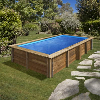 Piscine bois rectangle SUNBAY LEMON