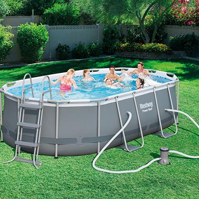 Piscine hors sol Bestway POWER STEEL - Ovale