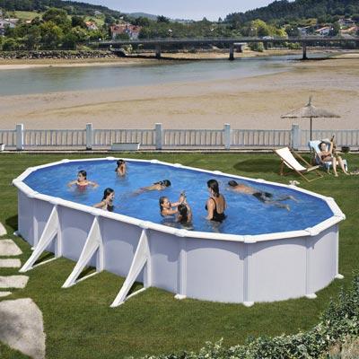 Piscine hors sol acier gre mauritius ovale - Gre piscine hors sol ...