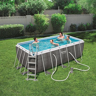 Piscine hors sol Bestway POWER STEEL ROTIN - Rectangulaire