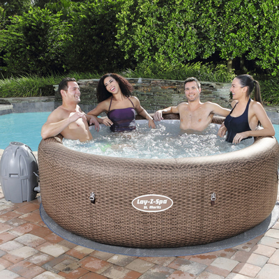 Spa gonflable Bestway Lay-Z-Spa St Moritz - Rond