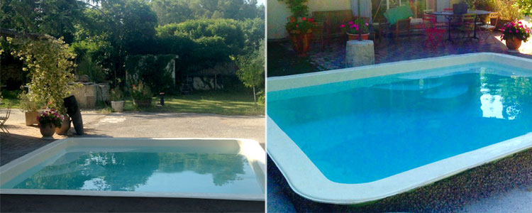Mini Piscine coque polyester CANEA photos