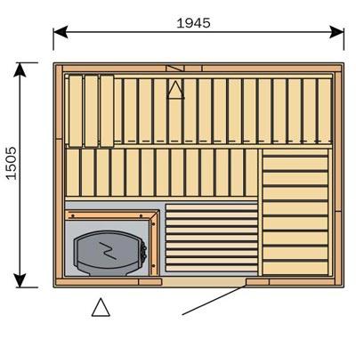 sauna harvia variant line s2015. Black Bedroom Furniture Sets. Home Design Ideas