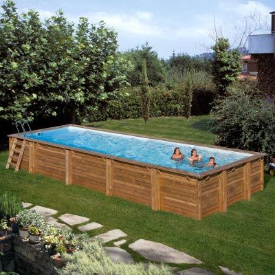 Piscine bois rectangulaire SUNBAY MINT