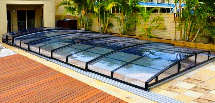 Abri de piscine sur mesure t lescopique mirage bas for Abri de piscine online