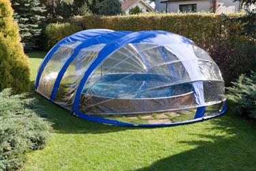 Abri haut azuro pour piscine jusqu 39 10 m tres repliable for Piscine portable prix