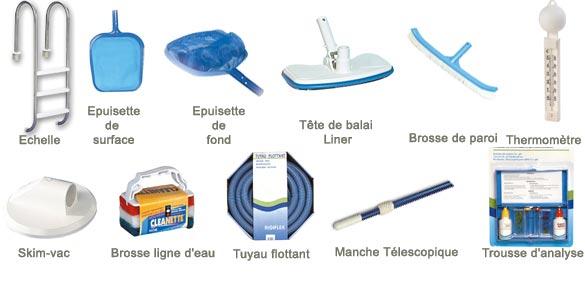 Kit piscine quipement luxe for Accessoires de nettoyage pour piscine