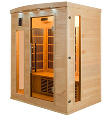 Sauna infrarouge Apollon 3 places vue 2
