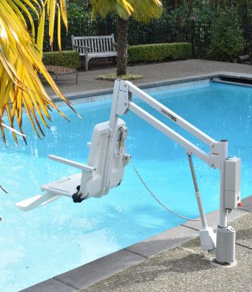 Si ge l vateur axs lift 1000 acc s piscine aux handicap s - Siege flottant pour piscine ...