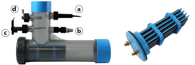 Combin lectrolyseur astral et r gulation de ph gestion for Diffuseur de chlore pour piscine