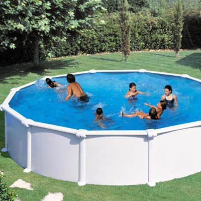 Piscine hors sol acier gre atlantis ronde for Piscine hors sol dimension
