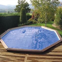 enrouleur et couverture solaire piscine hors sol bois. Black Bedroom Furniture Sets. Home Design Ideas
