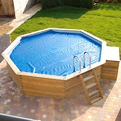Enrouleur et couverture solaire piscine hors sol bois gardipool - Couverture piscine hors sol toulouse ...