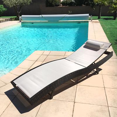 bains de soleil et chaises longues. Black Bedroom Furniture Sets. Home Design Ideas
