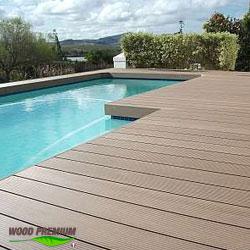 Plage piscine en bois composite WOOD PREMIUM