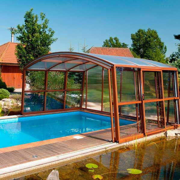 Préférence Abris piscine pas cher : plats, hauts, bas, coulissants HN28