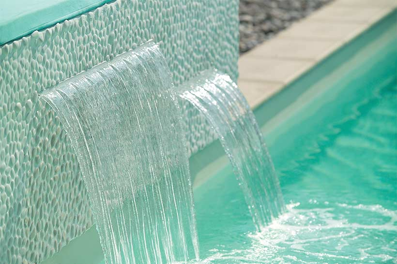 Cascade eau encastrable pour piscine polaris power fall
