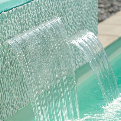 Cascades fontaines et canons eau pour piscine - Cascade de piscine fontaine ...
