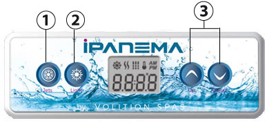 Spa Ipanema : clavier de commandes