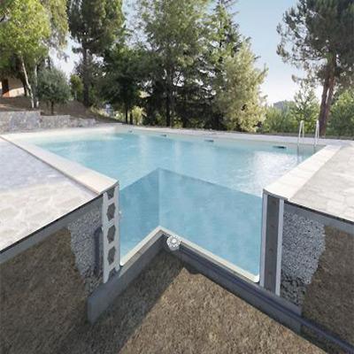 Blocs polystyrène TRADIPOOL pour coffrage piscine béton