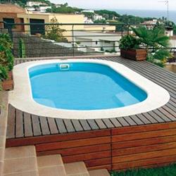 coque piscine ovale